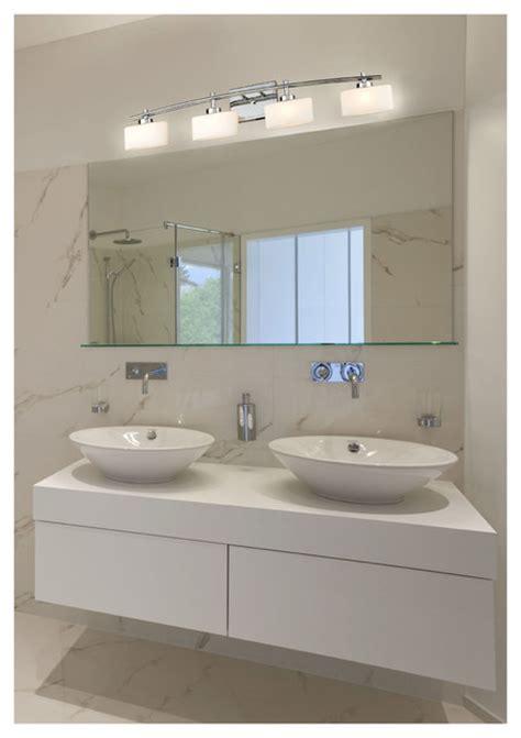 Contemporary Bathroom Wall Light Fixtures by Elk Lighting 17083 4 Eastbrook Polished Chrome 4 Light