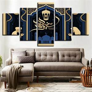 Modular, Canvas, Paintings, Wall, Art, 5, Pieces, Islamic, Mosque