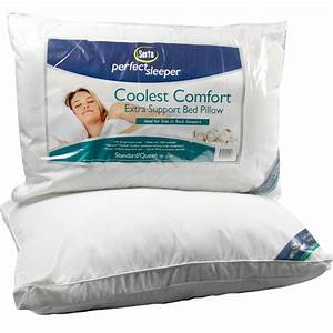 serta perfect sleeper extra support bed pillow serta With bed pillows for back sleepers