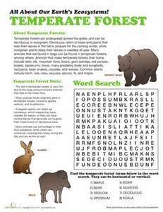 Temperate Forest Worksheets