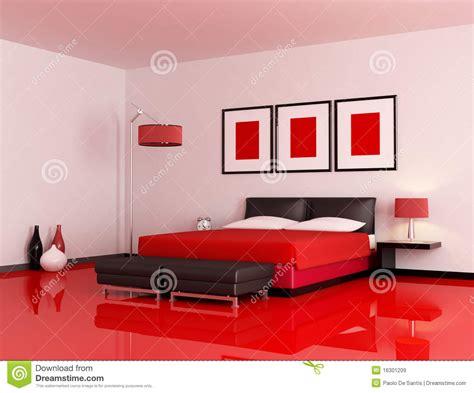 peinture murale chambre adulte moderne rode en zwarte slaapkamer stock illustratie