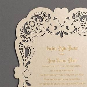laser cut gold wedding invitations little flamingo With laser cut wedding invitations au