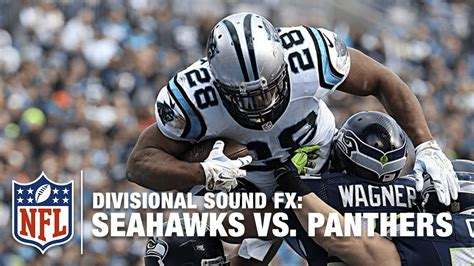sound fx seahawks  panthers divisional nfl youtube