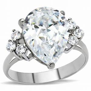 Big rock 7 stones cz ring engagement ring parlor587 for Big rock wedding rings