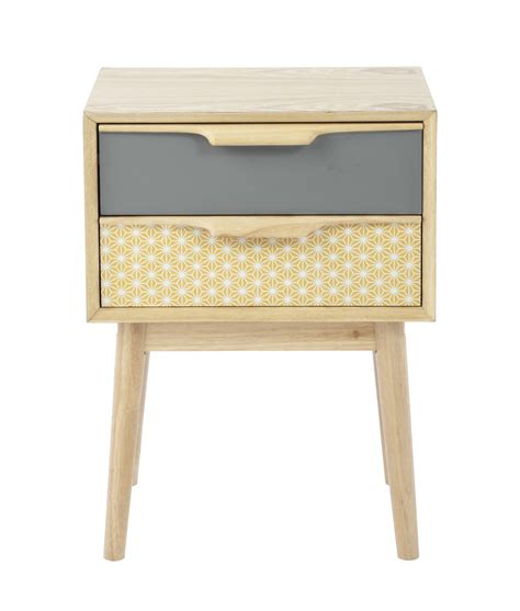 couleur de peinture pour chambre ado fille table de chevet vintage avec tiroirs en bois l 42 cm fjord