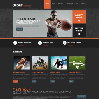 Dailysports Template Monster by 5 Best Sports News Themes 2018 Templatemonster