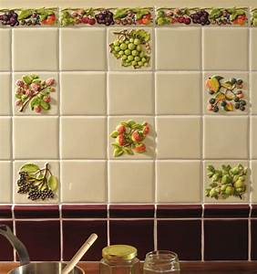 18 best la belle collection 4quot hand painted specialist With kitchen tiles with fruit design