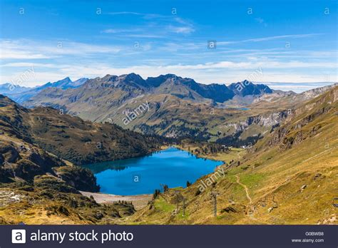 Direction Signs Alpine Hikes Alps Switzerland Stock Photo Stunning View Of Engstlensee Lake And The Alps On A