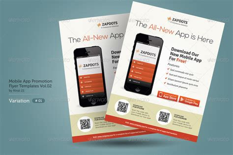 mobile promotion mobile app promotion flyers vol 02 by kinzi21 graphicriver