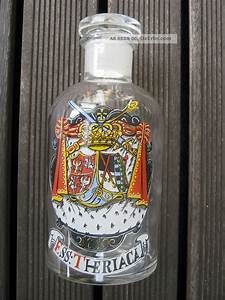 Glasflasche Mit Stöpsel : apothekerflasche ess theriaca antik glas klar mit motiv ~ Watch28wear.com Haus und Dekorationen