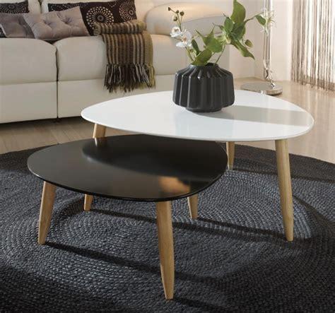table basse gigogne laqu 233 e blanc et noir egon lestendances fr