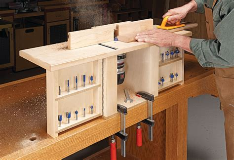 compact router table woodworking project woodsmith plans