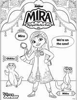 Mira Coloring Detective Royal Sheets Mikku Chikku Disney Sheet Enjoy Printable Three Anoop sketch template