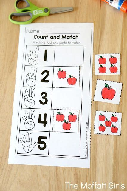count and match with apples teaching number sense in 782   836cb057feec40b831f774ba5d81c4e0 teaching numbers to preschoolers teaching letters and numbers