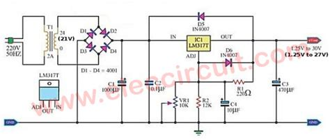 First Variable Power Supply Using Elec Circuit