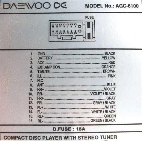 daewoo agc 6100 pinout diagram pinoutguide