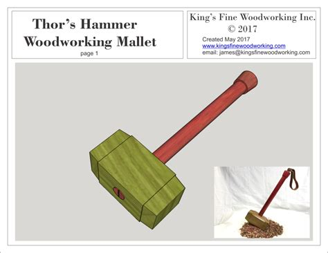 plans  woodworking mallet   style  thors hammer mjolnir kings fine woodworking