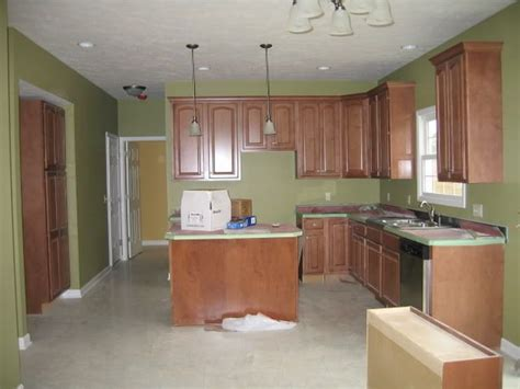 kitchen wall colors with oak cabinets sherwin williams bamboo shoot home 9622