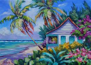 house drawings plans tropical island cottage painting by clark
