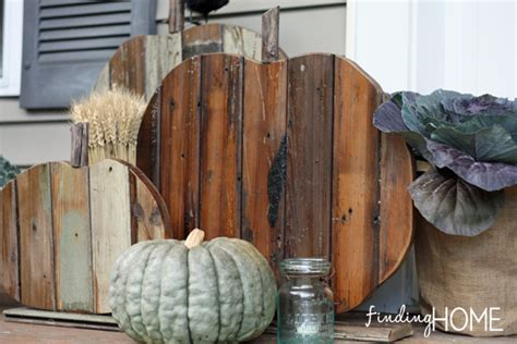 Fall Decorating  Diy Reclaimed Wood Pumpkins  Finding Home Farms