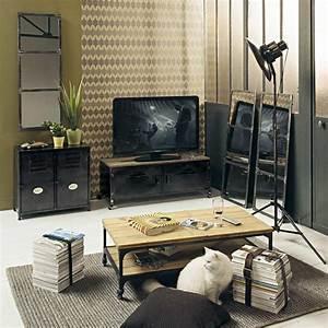 Möbel Im Industriedesign : roll tv lowboard im industrial stil aus metall und tanne industriedesign tv hifi m bel holz ~ Orissabook.com Haus und Dekorationen