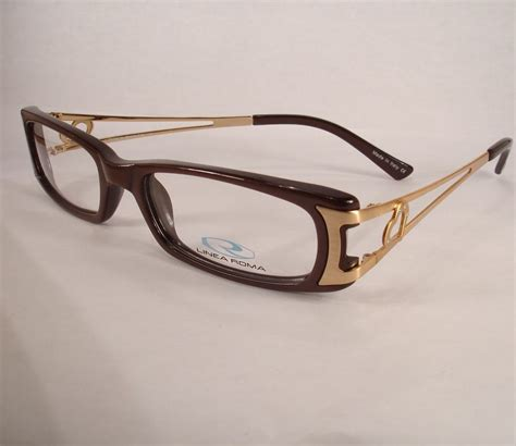 designer frames for glasses linea roma rina brown eyeglass new frames designer