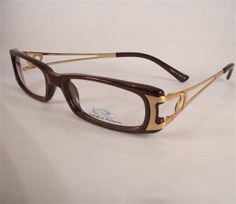 designer eye glasses linea roma rina brown eyeglass new frames designer