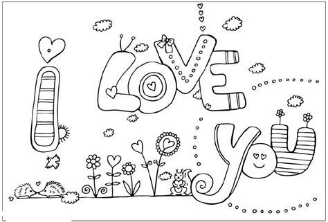 Feel free to print and color from the best 37+ i love you coloring pages at getcolorings.com. Valentines Day Coloring Pages: I Love You Coloring Pages