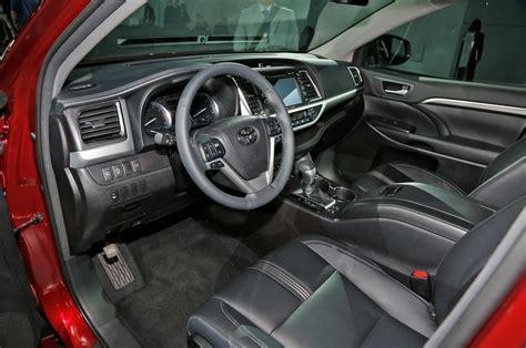 toyota highlander interior 2018 toyota highlander release date price specs rumors