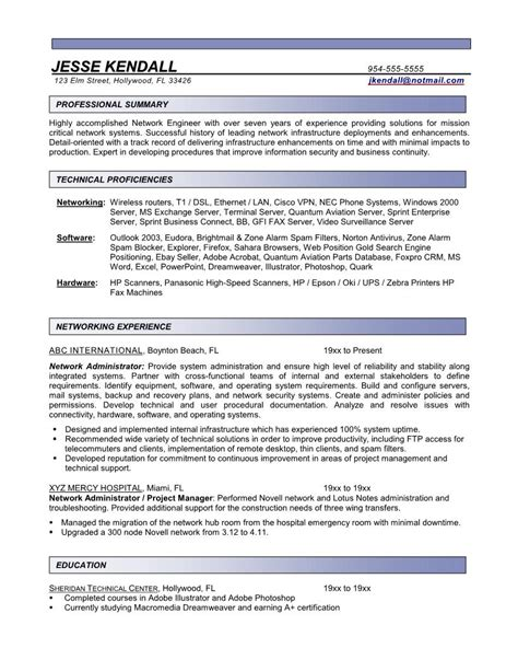 Resume For System Administrator by Systems Administrator Resume Template