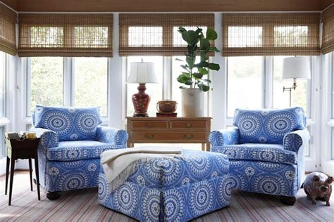 Create Blue White Sunroom by Sunroom Cottage Living Room Suellen Gregory