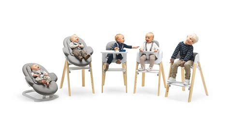 chaise stokke steps stokke steps three in one bouncer high chair our must