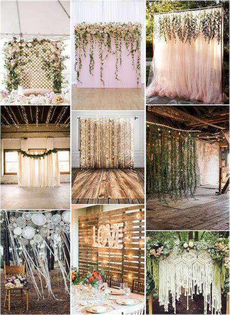 Diy Outdoor Photo Backdrop by Top 5 Unique And Breathtaking Wedding Backdrop Ideas