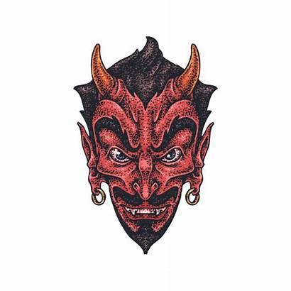 Satan Tattoo Devil Evil Stickers Factory