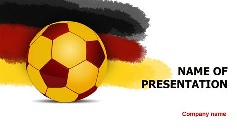 germany soccer ball powerpoint template