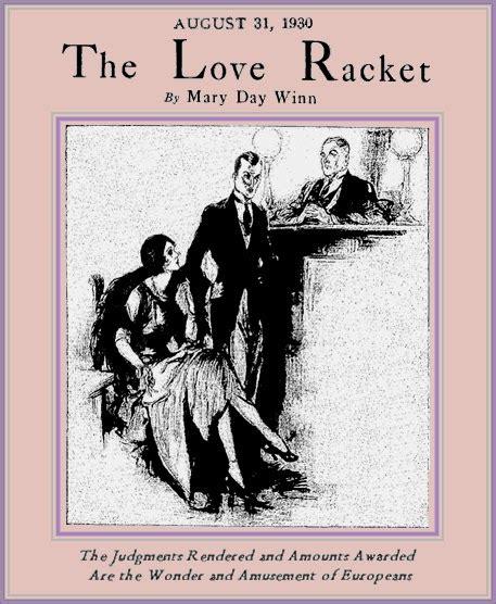 the unknown history of misandry the love racket aka heart balm racket 1930