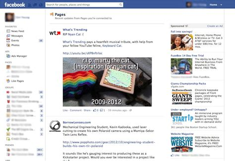 Facebook News Feed Is For Engagement, Pages Feed Is