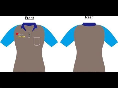 design coreldraw membuat kaos lengan pendek kerah sleeve shirt collar youtube