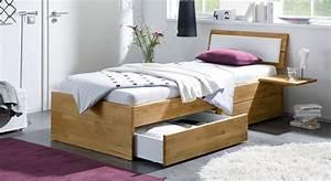 Günstiges Bettgestell 140x200 : einzelbett aus holz mit schubladen kaufen leova ~ Frokenaadalensverden.com Haus und Dekorationen