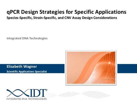 qpcr primer design qpcr design strategies for specific applications