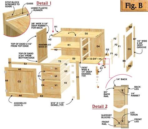 shaker cabinet plans   woodworking