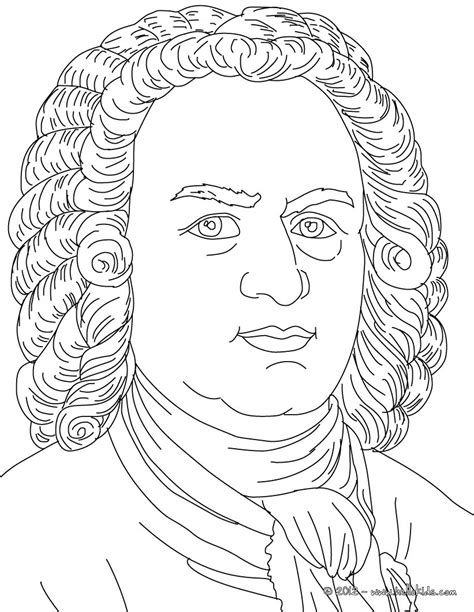 Bach Composer Coloring Pages