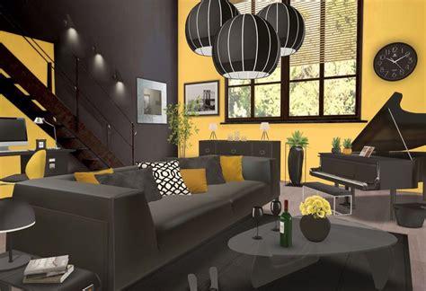 idee deco cuisine vintage déco jaune et noir dans le salon 20 idées pour vous