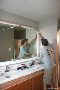 bathroom mirror trim ideas 25 best bathroom mirrors ideas on framed bathroom mirrors framing a mirror and