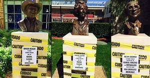 Reagan, Thatcher busts defaced at Chapman University