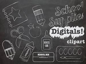 Chalk Clip art School Supplies, Teacher clipart, chalk ...
