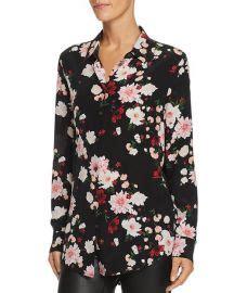 WornOnTV: Vanessa's black floral shirt and burgundy ...