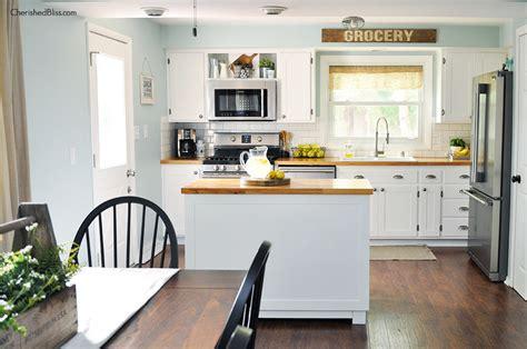 large kitchen island industrial farmhouse kitchen cherished bliss