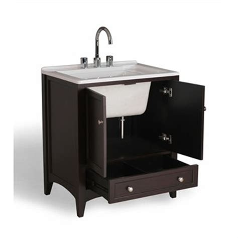 counter kitchen sinks stufurhome 30 5 quot laundry utility sink vanity espresso 6525