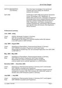 sap sd consultant resume sle resume format for sap sd consultant resume format